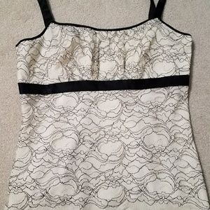 Ann Taylor lace tank top